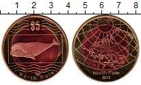 Изображение Монеты Антарктика Северный Полюс 5 долларов 2012 Биметалл UNC-