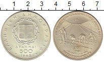 Изображение Монеты Греция 500 драхм 1982 Серебро UNC-