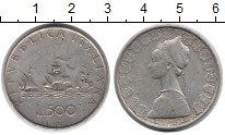 Изображение Монеты Италия 500 лир 0 Серебро VF Корабли Колумба