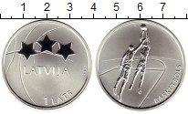 Изображение Монеты Европа Латвия 1 лат 2008 Серебро VF