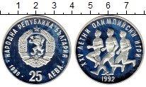 Изображение Монеты Болгария 25 лев 1990 Серебро VF Олимпийские игры, бе