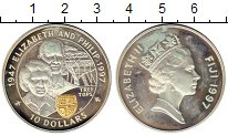 Изображение Монеты Фиджи 10 долларов 1997 Серебро Proof-