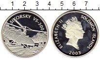 Изображение Монеты Соломоновы острова 25 долларов 2003 Серебро Proof- Сикорский VS-300, ве