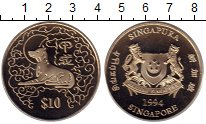 Изображение Монеты Сингапур 10 долларов 1994 Медно-никель UNC