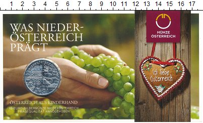 Изображение Подарочные монеты Европа Австрия 10 евро 2013 Серебро UNC