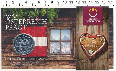 Изображение Подарочные монеты Европа Австрия 10 евро 2016 Серебро UNC