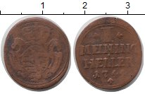 Изображение Монеты Саксен-Майнинген 1 хеллер 1744 Медь VF