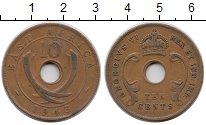 Изображение Монеты Восточная Африка 10 центов 1943 Бронза VF Георг VI