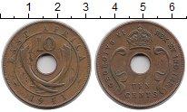 Изображение Монеты Восточная Африка 10 центов 1941 Бронза VF Георг VI