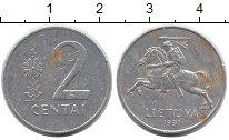 Изображение Дешевые монеты Литва 2 цента 1991