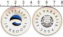 Изображение Монеты Европа Эстония 10 крон 2004 Серебро Proof
