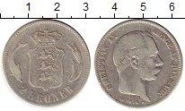 Изображение Монеты Европа Дания 2 кроны 1876 Серебро XF-