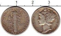 Изображение Монеты Северная Америка США 1 дайм 1944 Серебро VF