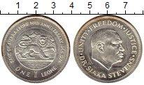 Изображение Монеты Сьерра-Леоне 1 леоне 1974 Серебро UNC-