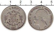 Изображение Монеты Швеция 1 крона 1876 Серебро VF