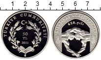 Изображение Монеты Азия Турция 50 лир 2011 Серебро Proof