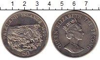 Изображение Монеты Великобритания Фолклендские острова 50 пенсов 1990 Медно-никель UNC-
