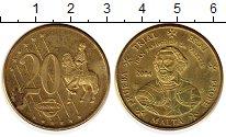 Изображение Монеты Мальта 20 евроцентов 2004 Латунь XF