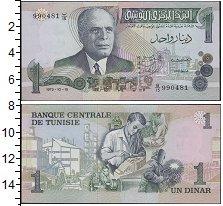 Изображение Банкноты Тунис 1 динар 1973  UNC