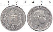 Изображение Монеты Европа Португалия 500 рейс 1896 Серебро XF