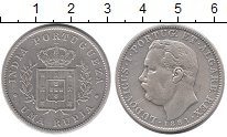 Изображение Монеты Португальская Индия 1 рупия 1881 Серебро XF-