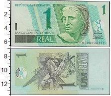 Изображение Банкноты Южная Америка Бразилия 1 реал 0  UNC