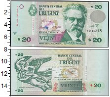 Изображение Банкноты Южная Америка Уругвай 20 песо 2000  UNC