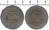 Изображение Монеты Европа Хорватия 25 кун 2002 Биметалл UNC-