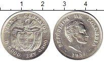 Изображение Монеты Южная Америка Колумбия 20 сентаво 1938 Серебро XF