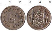 Изображение Монеты Великобритания Борнео 2 1/2 цента 1903 Медно-никель XF