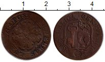 Изображение Монеты Швейцария Женева 6 денье 1766  VF