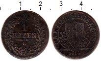 Изображение Монеты Германия Сант-Галлен 1 батзен 1814  VF