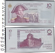 Изображение Банкноты Северная Америка Гаити 10 гурдов 2004  UNC