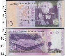 Изображение Банкноты Австралия и Океания Тонга 5 паанга 2008  UNC