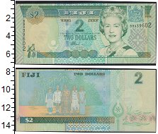 Изображение Банкноты Австралия и Океания Фиджи 2 доллара 2007  UNC