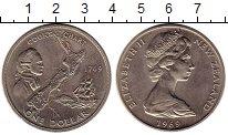 Изображение Монеты Новая Зеландия 1 доллар 1969 Медно-никель UNC-
