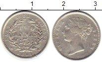Изображение Монеты Индия 2 анны 1841 Серебро XF-