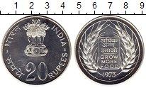 Изображение Монеты Азия Индия 20 рупий 1973 Серебро Proof-