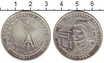 Изображение Монеты Германия 10 евро 2011 Серебро Proof- G, 200 лет со дня ро