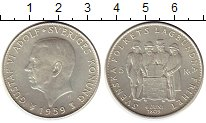 Изображение Монеты Европа Швеция 5 крон 1959 Серебро UNC-