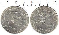 Изображение Монеты Дания 10 крон 1972 Серебро UNC