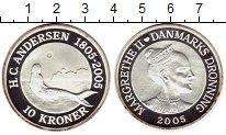 Изображение Монеты Европа Дания 10 крон 2005 Серебро Proof-