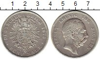 Изображение Монеты Германия Саксония 5 марок 1875 Серебро VF