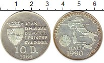 Изображение Монеты Европа Андорра 10 динерс 1989 Серебро Proof-