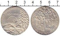Изображение Монеты Финляндия 100 марок 1990 Серебро UNC- 50 лет ассоциации ин