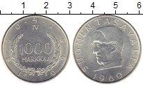 Изображение Монеты Европа Финляндия 1000 марок 1960 Серебро UNC-