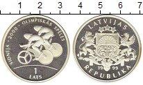 Изображение Монеты Латвия 1 лат 1999 Серебро Proof-