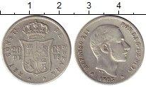 Изображение Монеты Азия Филиппины 20 сентаво 1885 Серебро XF