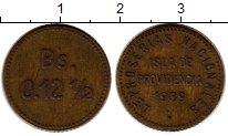 Изображение Монеты Венесуэла 12 1/2 сентима 1939 Латунь XF-