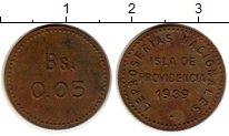Изображение Монеты Венесуэла 0,05 боливар 1939 Латунь XF-